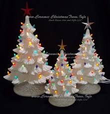 ceramic christmas tree collection silver bells 3 trees ceramic