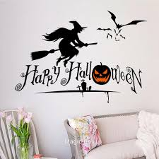 happy halloween wall glass stickers pumpkin skull home party