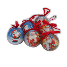 traditional design santa tree baubles set 6 ebay
