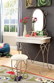 linon home decor vanity set with butterfly bench black bedroom