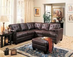 Leather Sectional Sofas Toronto Toronto Dark Brown Tufted Leather Corner Sectional Sofa At Gowfb