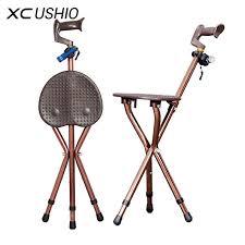 canne de marche avec siege réglable canne pliante chaise tabouret de bâton de marche