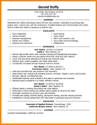 hair stylist resume exle 4 hair stylist resume exles formatting letter assistant salon spa