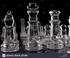 Glass Chess Boards Glass Chess Set On Black Background Stock Photo Royalty Free