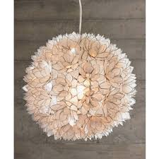 Decorative Pendant Light Fixtures Decorative Capiz Shell Lotus Flower Pendant Light Fixtures Polyvore