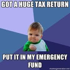 Tax Refund Meme - baby funny huge tax return meme generator money save spend