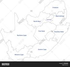 Blank Map Of South African Provinces by South Africa Map Designed In Illustration With The Provinces Stock