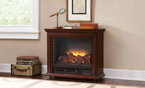 pleasant hearth sheridan mobile fireplace cherry walmart canada