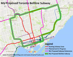 Toronto Subway Map Maps Www Torontotransitblog Com