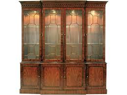glass shelves for china cabinet mahogany breakfront lighted china cabinet glass shelves light