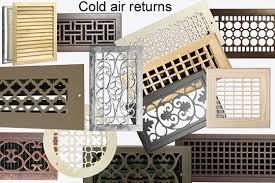 Decorative Return Air Grill Cold Air Return Covers Cold Air Return Covers Enchanting On Home
