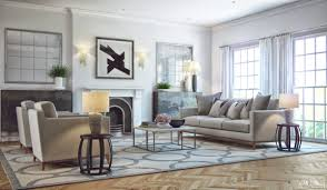a small grey and white living room with blue sofa in living room