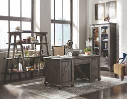 Sutton L Shaped Desk by Sutton Place Weathered Charcoal Executive Desk