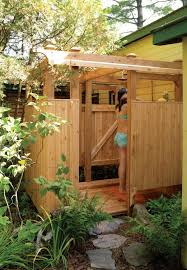 outside bathroom ideas simple outside shower plans by home decor inspirations