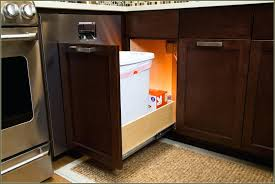 built in trash can cabinet built in trash can caet compactor dimensions garbage kitchen cabinet