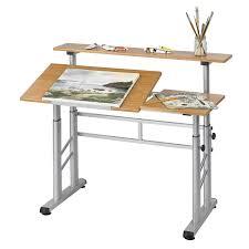 Adjustable Height Office Desks by Safco Adjustable Split Level Drafting Table Hayneedle