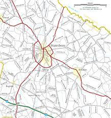 ga map statesboro ga map