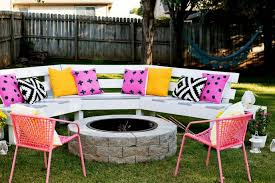 Firepit Bench Attractive Diy Curved Bench 1 Firepit Bench Paint Click For