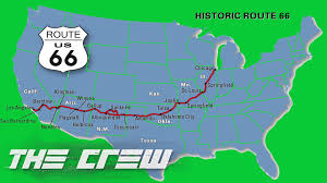 Historic Route 66 Map by Viaje Por La Ruta 66 The Crew 1080p Youtube