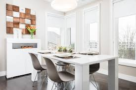 good looking modern buffet table with white dining grey and