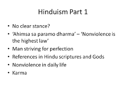 antecedents religious traditions and nonviolence ppt