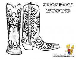 cowboy boots and hats coloring pages bestofcoloring pertaining to