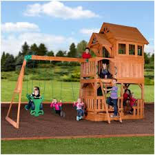 backyard discovery safari all cedar playset the home depot picture