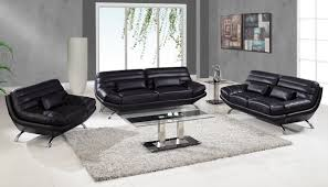 furniture design ideas electric black leather living room sets