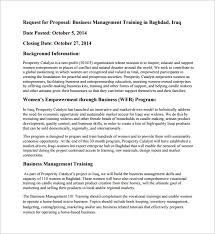 management proposal request for proposal rfp for strategic