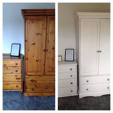 Oak And White Gloss Bedroom Furniture - wardrobes wardrobe chest of drawers and desk wardrobe and chest