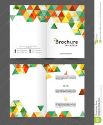 two page business brochure or template stock illustration image