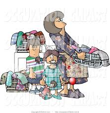family doing household chores clipart 42