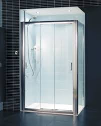 embrace three panel sliding shower door 1000mm with easy clean glass