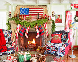 Country Living Room by 35 Christmas Mantel Decorations Ideas For Holiday Fireplace