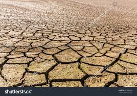 global warming concept drought cracked desert stock photo