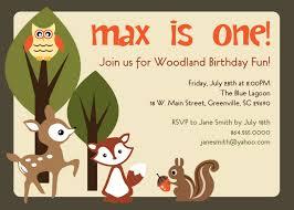 Birthday Invitation Cards For Friends Printable Woodland Birthday Invitation Animals Creatures