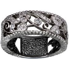 filigree wedding band dacarli vintage ring deco ring diamond wedding band filigree