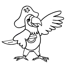 pirate parrot coloring pages kids esf printable parrots