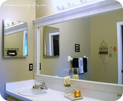 Framed Bathroom Mirrors Ideas Diy Bathroom Mirror Frame Ideas Home Care Tc
