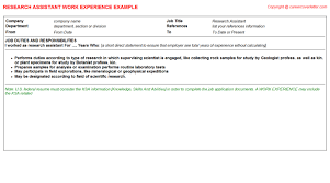 Ksa Resume Examples by Social Science Research Assistant Cv Work Experience Samples
