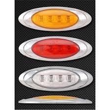 led side marker lights for trucks oval flush mount led lights big rig chrome shop semi truck chrome