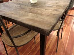 reclaimed wood square dining table dining tables captivating reclaimed wood square dining table