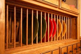 Kitchen Cabinet Plate Rack by Out Of The Woods Custom Cabinetry
