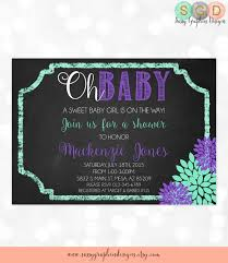 purple and grey baby shower invitations baby shower invitation chalkboard baby invite mums
