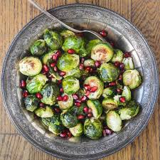 minimal monday roasted brussels sprouts with pomegranate the