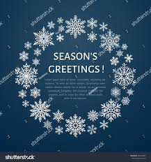 snowflake poster banner seasons greetings stock vector