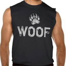 bear pride distressed bear paw woof sleeveless t shirt hoodie
