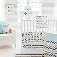 Aqua And Grey Crib Bedding My Baby Sam Chevron 3 Crib Bedding Set Aqua