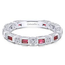 ruby band gabriel lr4380 alternating diamond and ruby band freedman