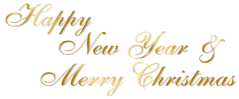 gold happy new year and merry png text gallery